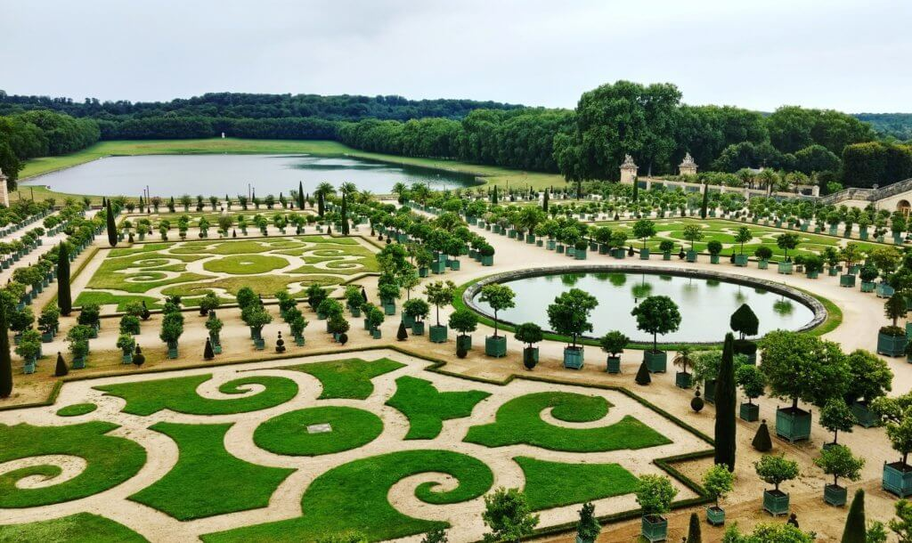 The gardens at Versailles Paris France