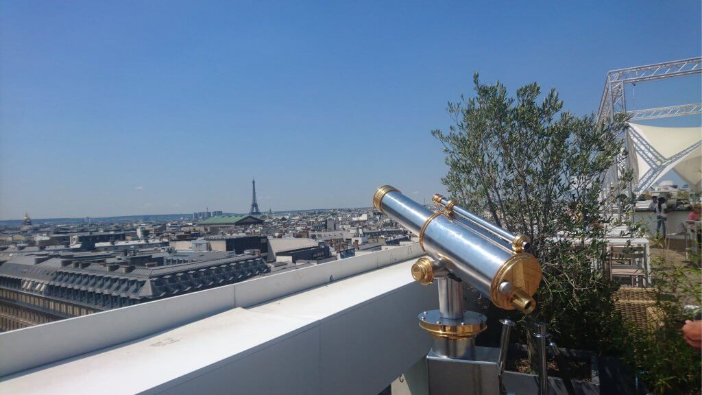 Galleries Lafayette, Paris rooftop view, Paris from above