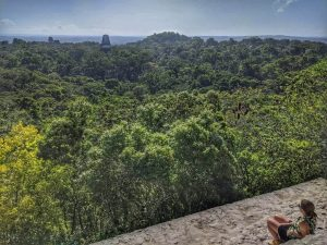 View from Temple IV Tikal Guatemala