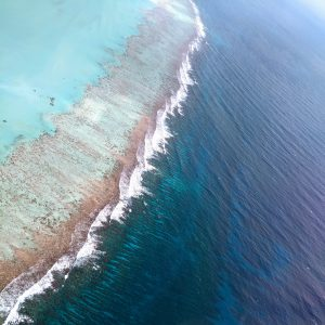 The Meso American reef from above Belize