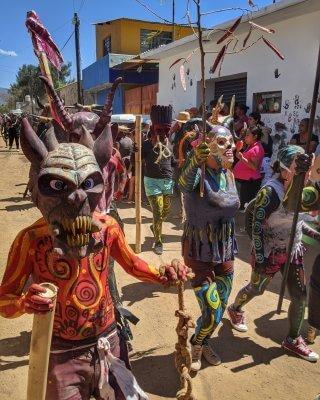 Carnival in San Martin Tilcajete Oaxaca Mexico