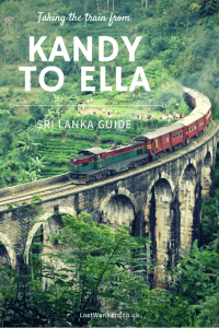 Taking the train from Kandy to Ella Sri Lanka