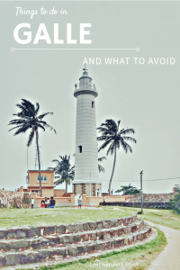 Things to do in Galle Sri Lanka