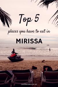 Where to eat in Mirissa Sri Lanka