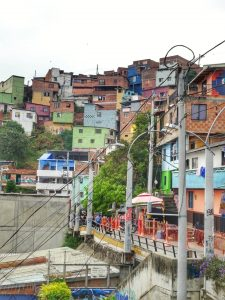 Colourful houses District 13 Medellin