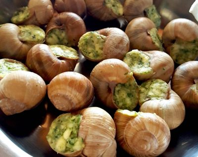 Escargots in France best food in Europe