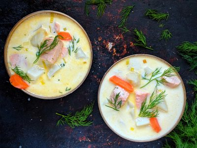 Lohikeitto Salmon Soup Finland best food in Europe